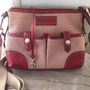 Red leather Dooney & Bourke Cross bag